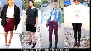 Fall Winter Fashion Trends 2012-2013 & Style Lookbook- Burgundy, Leather Thumbnail