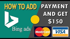 How to add Payment Method on Bing ads | Card add on bing ads