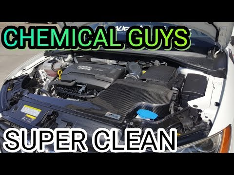 Chemical Guys How To Super Clean Your Engine Bay 2016 Audi A3 Vlog