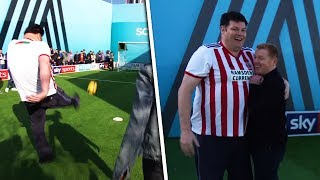 The Beast hits Top Bins?!? | Neil Lennon vs The Beast | Soccer AM Pro AM