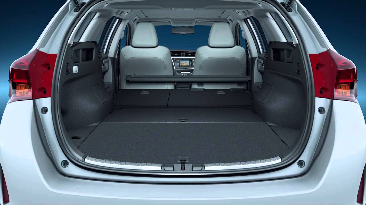 toyota auris hybrid touring sports 2013 bagageruimte boot youtube. Black Bedroom Furniture Sets. Home Design Ideas