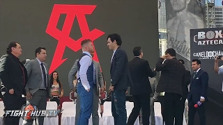 Canelo Alvarez vs. Julio Cesar Chavez Jr. COMPLETE Face OFF HD - Mexico City