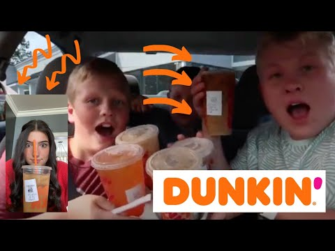 TRYING Charli D'amelio's DUNKIN Donuts DRINK! + Trying my SUBSCRIBERS Favorite DUNKIN Order!