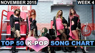 K-POP SONG CHART [TOP 50] NOVEMBER 2015 (WEEK 4)