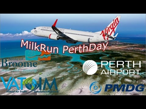 PMDG 737 out of Orbx Broome on Vatpac's April Milkrun Perthday.