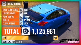 1000000 XP in Minutes! How to Level Up FAST - Forza Horizon 3 (Xbox One & PC)