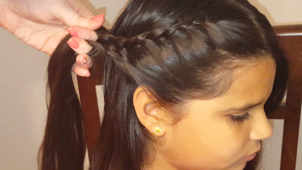 hair styles with bows lace braids ponytail hairstyle hairstyles 7547
