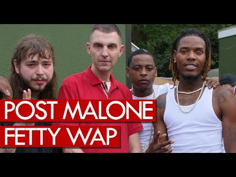 Post Malone & Fetty Wap backstage at Wireless