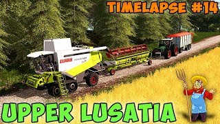"FS 17   Upper Lusatia ""Oberlausitz"" with Seasons   Timelapse #14   Harvesting wheat"