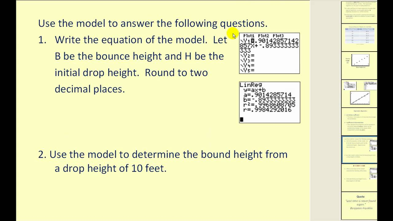 how to find linear regression on calculator
