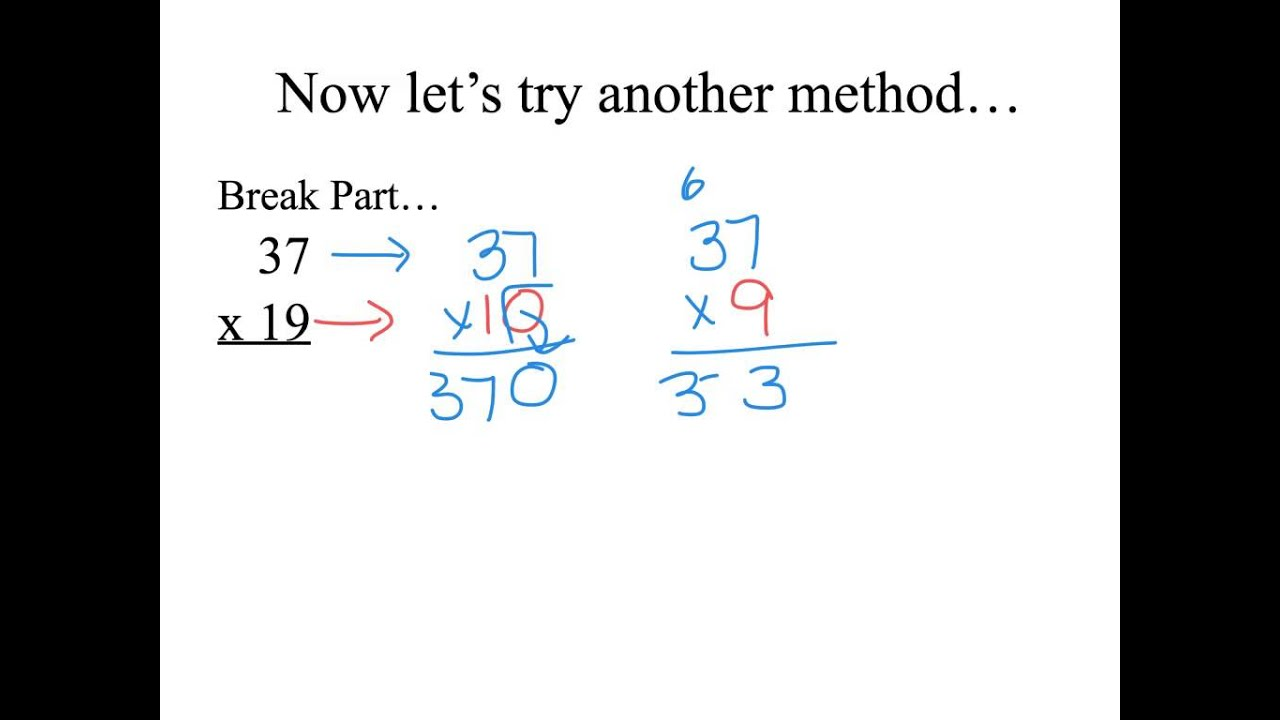 worksheet Double Digit Multiplication 2 digit break apart multiplication youtube multiplication