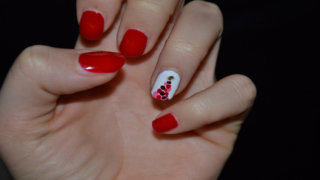 christmas nails unghie natalizie tutorial 2 youtube