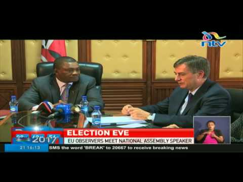 EU observers meet national assembly speaker Justin Muturi