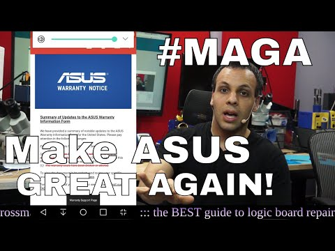 Repair culture is WINNING: ASUS Warranty Policy changes.