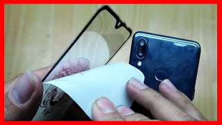How To Apply Galaxy A10 Tempered Glass Full Screen Protector