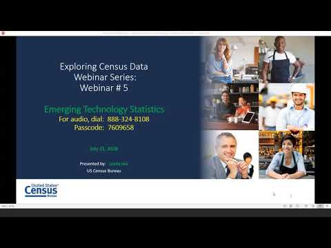 Exploring Census Data Webinar Series: Emerging Technologies