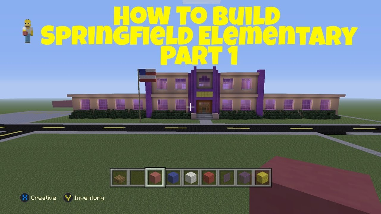 Minecraft Springfield Project How To Build Springfield