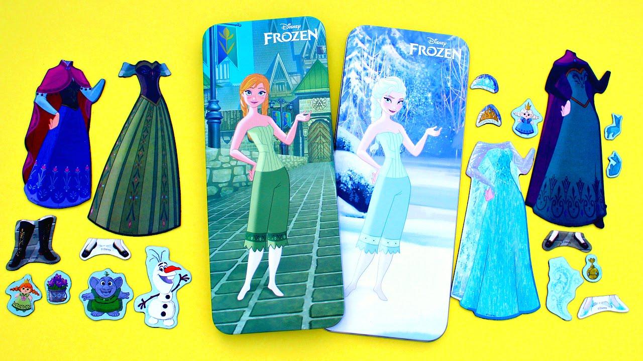 FROZEN Muñecas magneticas para vestir • Frozen Magnetic Paper Dolls ...