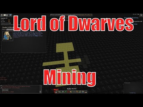 Lord of dwarves -  Mining stone underground  - Let's play Lord of dwarves gameplay