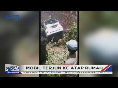 Rem Blong Sebuah Mobil Terjun Menimpa Rumah Warga Di Gunungkidul - Sergap 18/01