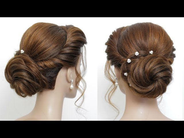 New Low Bun Hairstyle For Girls.  Party Hair Tutorial