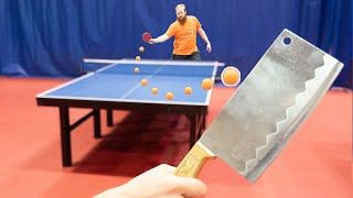 Playing Table Tennis with a KNIFE I Pongfinity