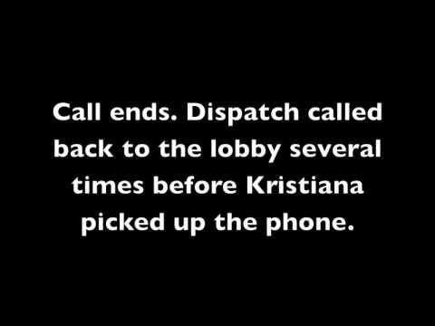 Audio: Kristiana Coignard's call to dispatch from Longview Police Department lobby