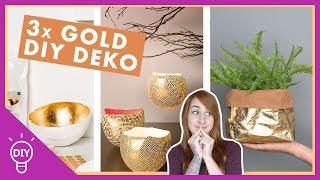 3 GOLD DEKO DIY's ✨