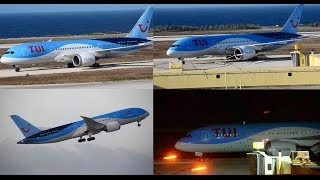TUI 787-8 Dreamliner Landing and takeoff from curacao international airport