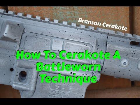 How to Cerakote:  Battleworn Technique (Battle Worn)