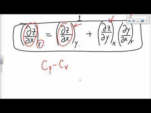 Physical Chemistry Lecture: Partial Derivatives in Thermodynamics Part 1