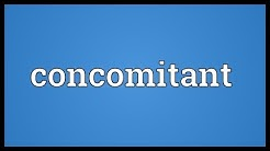 Concomitant Meaning