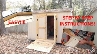 Building a shed as easy as ABC  Easiest Roof overhang|Paulstoolbox