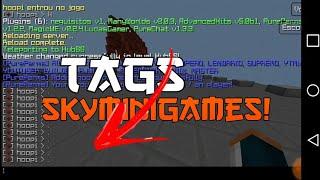 PLUGIN DE TAGS + KITS DO SKYMINIGAMES CONFIGURADOS!!  | POCKETMINE | GENESYS E HOST!!