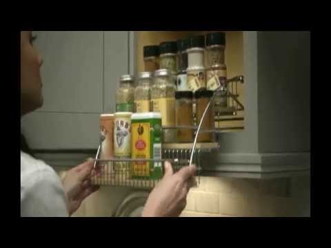 Diamond at Lowes Pull Down Spice Rack  YouTube