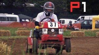 COLIN FURZE RACES A LAWNMOWER!