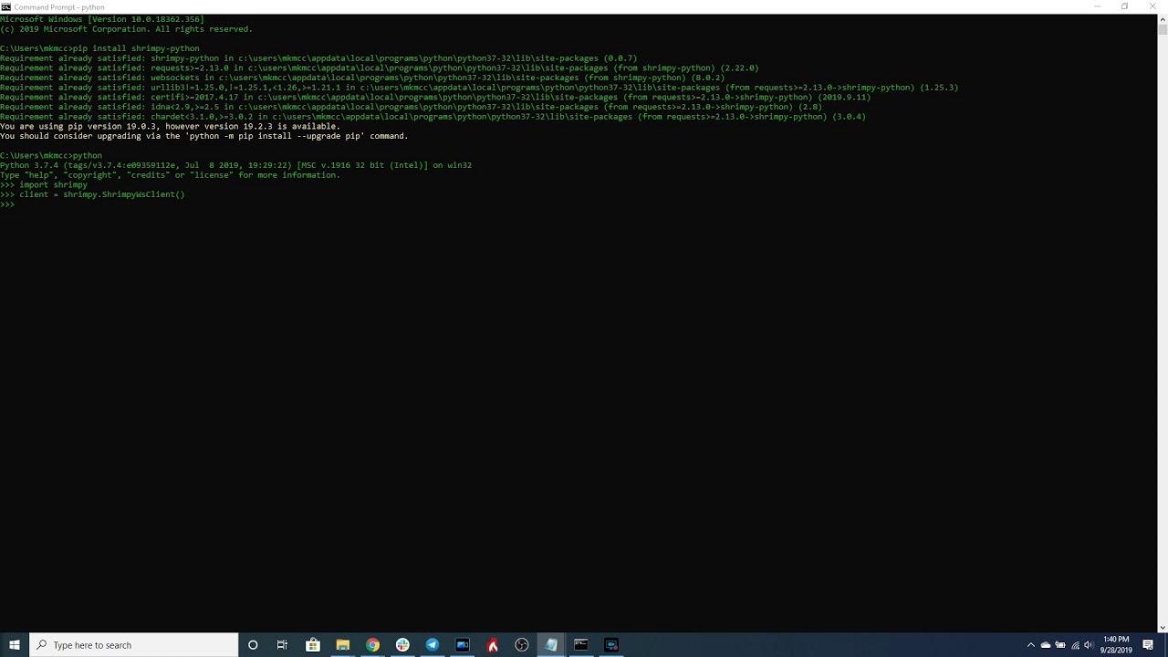 Python kriptobot