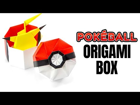 Origami Pokeball Box Tutorial - Pokemon DIY - Paper Kawaii