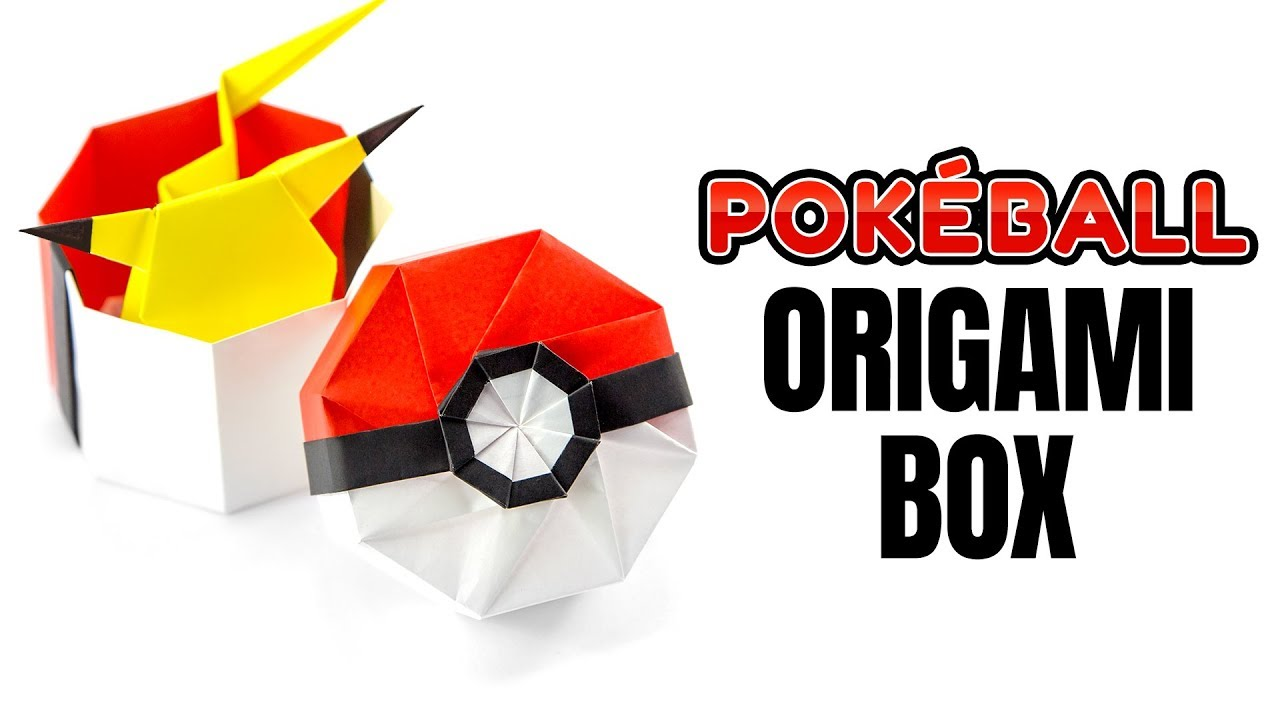 Origami Pokeball Box Tutorial - Pokemon DIY - Paper Kawaii on