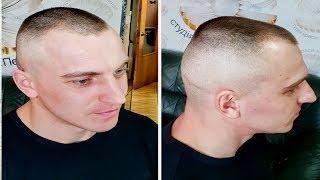 Мужская стрижка машинкой/Стрижка Бокс/short tapered mens haircut