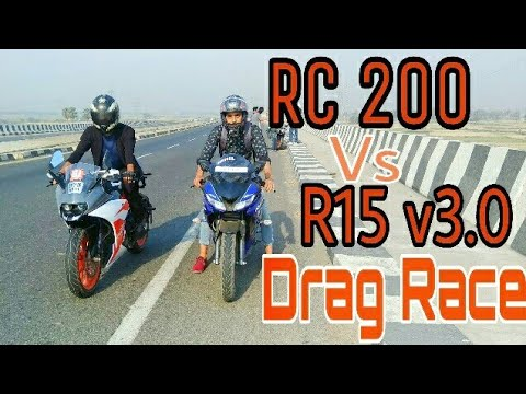 R15 v3 vs Rc 200 Drag Race | Top End | Highway Battle