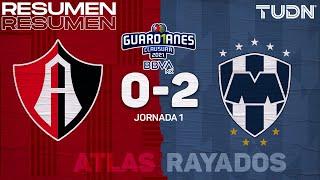 Resumen y goles | Atlas 0-2 Rayados | Torneo Guard1anes 2021 BBVA MX - J1 | TUDN