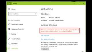 How to fix Windows 10 activation error code 0xc004c060