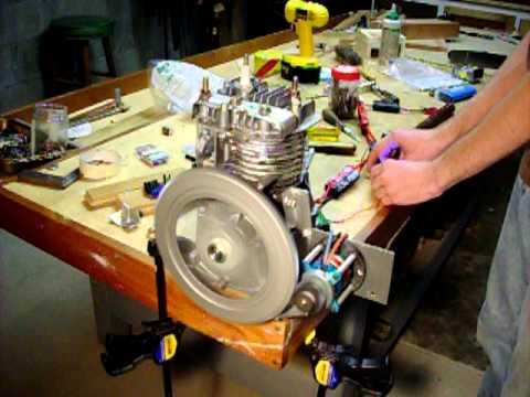 Brushless Starter Motor Test With Spark Plug Youtube