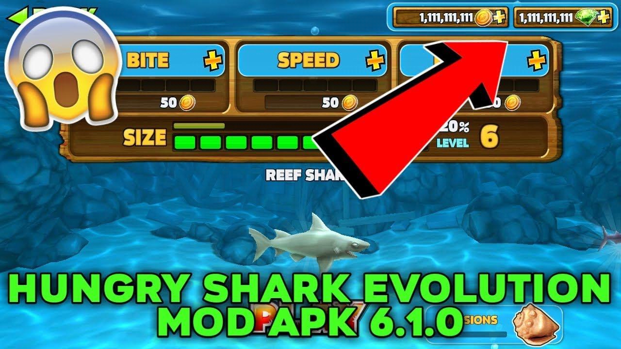 Hungry Shark Evolution Mod Apk 6 1 0 Unlimited Coins Gems Youtube