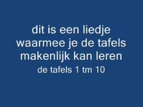 tafel lied / tafelliedje tafels 1 t/m 10