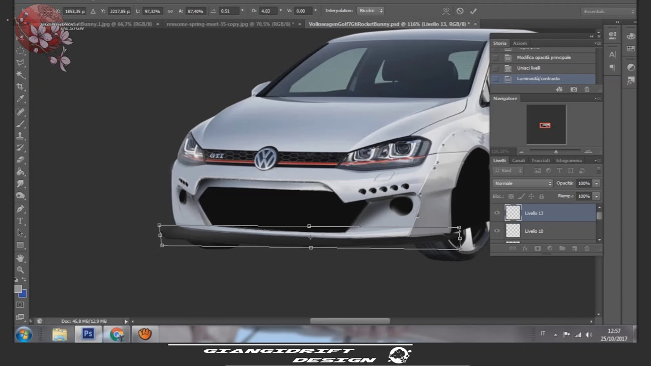 Volkswagen Golf 7 Gti Rocket Bunny Virtual Tuning Photoshop