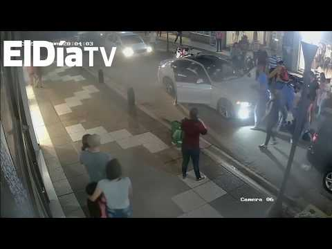 Imágenes exclusivas de los atropellados por un BMW en pleno centro de Gualeguaychú