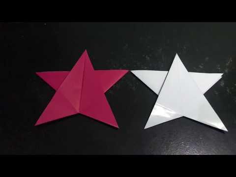 Cara membuat bintang dari kertas origami mudah