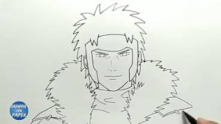 How to Draw Tobirama Senju (2nd Hokage)  - Drawing doodle art for kids